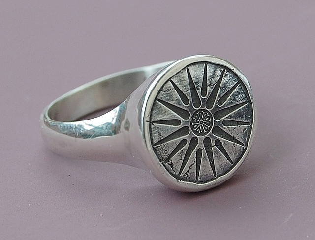 Nice Ancient Greek ring Vergina sun ancient Greek Macedonian symbol In the