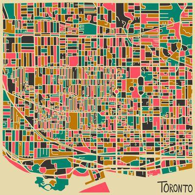 """Toronto"" Art Print by Jazzberry Blue"