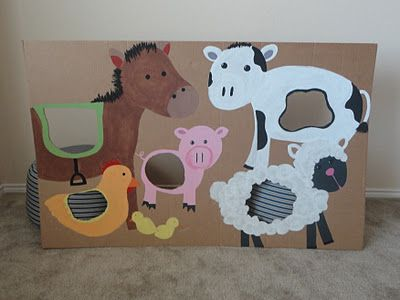 Bean Bag Toss...good party idea, easy to recreate with animals of the birthday kid's choice. :)