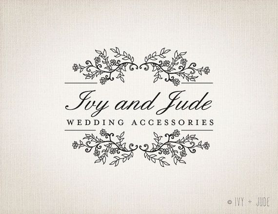 Wedding Logo Design premade Logo Design Services by IvyAndJude, $50.00