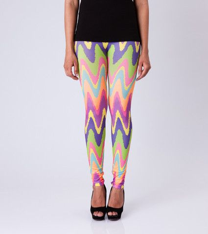 Colour Dip Leggings By ESL. Price: Rs. 350.00 Visit: http://bit.ly/1MEmoG6