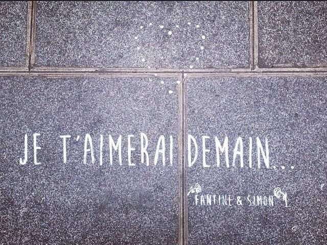 Je t'aimerai demain... In the streets of Paris • By Fantine & Simon • Photo ©Lesdemoizelles • #paris #streetart #urbanart #graffiti #stencil #fantinetsimon #photography #love #amour www.fantineetsimo... ©Fantine&Simon