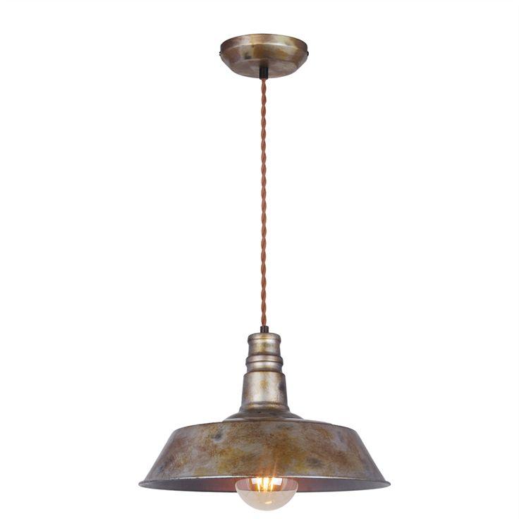 Home Design 12cm 240V Factory Single Pendant Light | Bunnings Warehouse