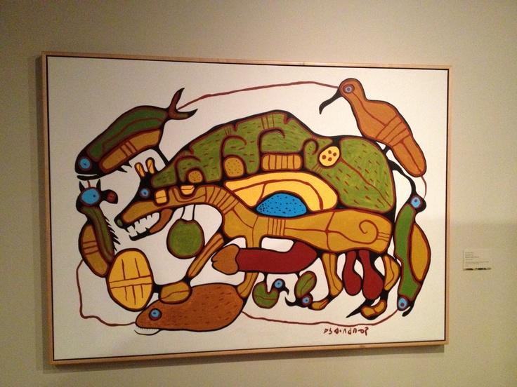 Norval Morriseau in Calgary museum