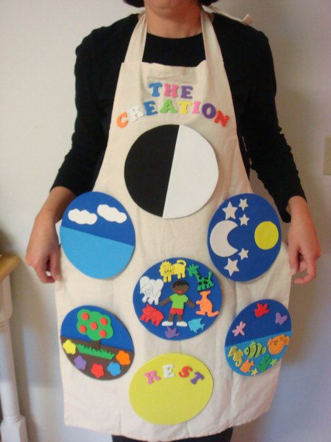 Creation Story Apron | Days of Creation | Storytelling | Flannel Board | Felt Board #affiliate