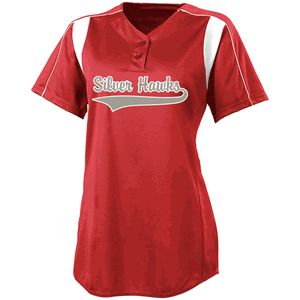 High Five 12192 Double Play 2-Button Softball Jersey