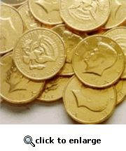 Kennedy Half-Dollar Gold Chocolate Coins (1 Lb - 68 PCs)