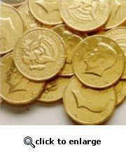 Kennedy Half-Dollar Gold Chocolate Coins (1 Lb - 68 PCs)