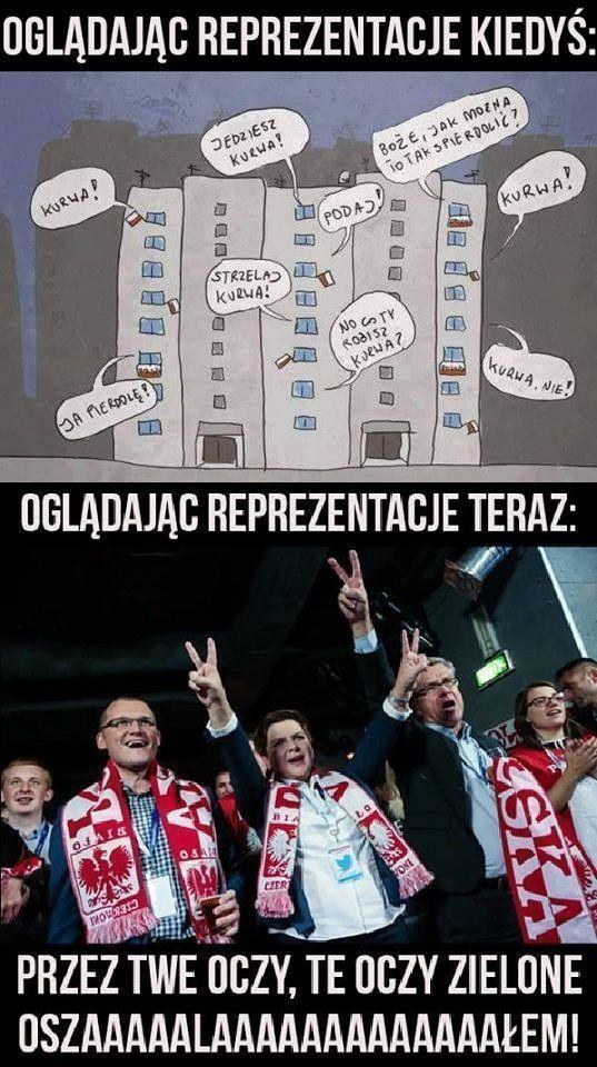 Oglądając reprezentację Polski w piłce nożnej kiedyś i dziś • Przez Twe oczy, te oczy zielone oszalałem • Wejdź i zobacz więcej >> #polska #pol #memy #pilkanozna