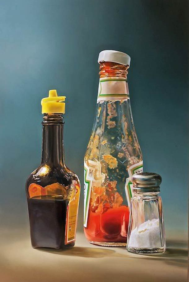 Peintures à l'huile photoréalistes de l'artiste hollandais Tjalf Sparnaay