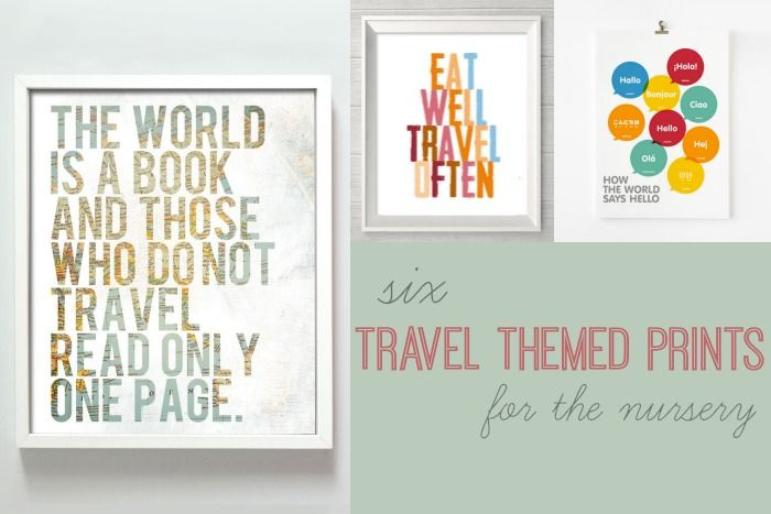 6 Travel Themed Prints Prints Art Paintings Wall