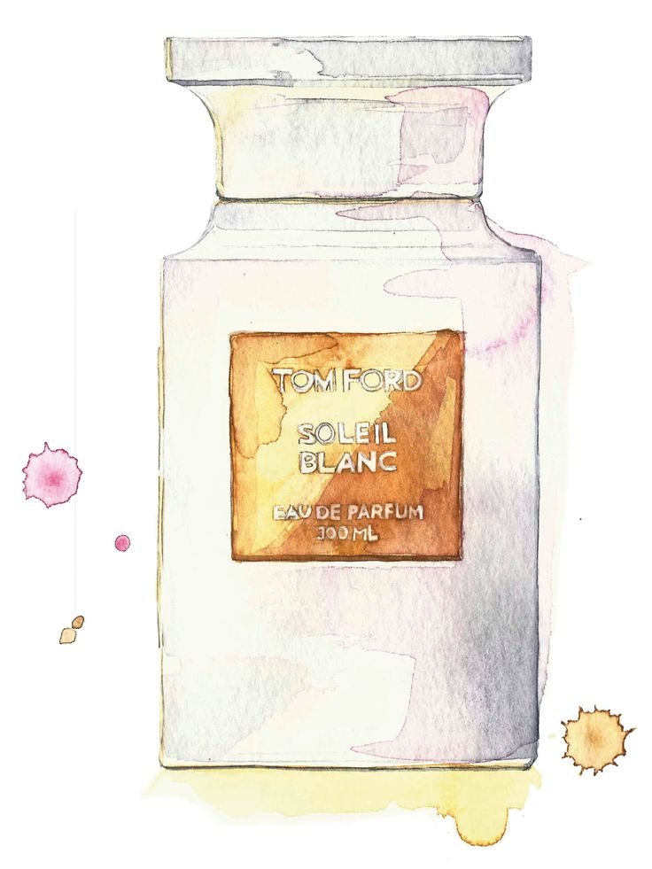 Fragrance of the week   Tom Ford Soleil Blanc Eau de Parfum   Illustration by Sarah Larnach