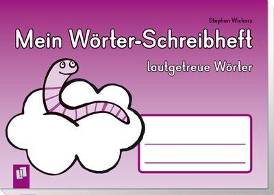 Mein Wörter-Schreibheft - lautgetreue Wörter ++ #Arbeitsheft für Schüler an Grundschulen, Fach: #Deutsch, ab 6 Jahre ++ In diesem Heft finden Sie sorgfältig gestufte, lautgetreue Wörter-Schreibübungen zu anschaulichen Bildern. Von einfachen Konsonant-Vokal-Kombinationen bis hin zu Wörtern mit Konsonantenhäufungen lernen die Kinder, Laute zunehmend genauer abzuhören und zu verschriften. Erzählbilder ermöglichen freies Schreiben, Zuhörwörter schulen das Schreiben nach Gehör…
