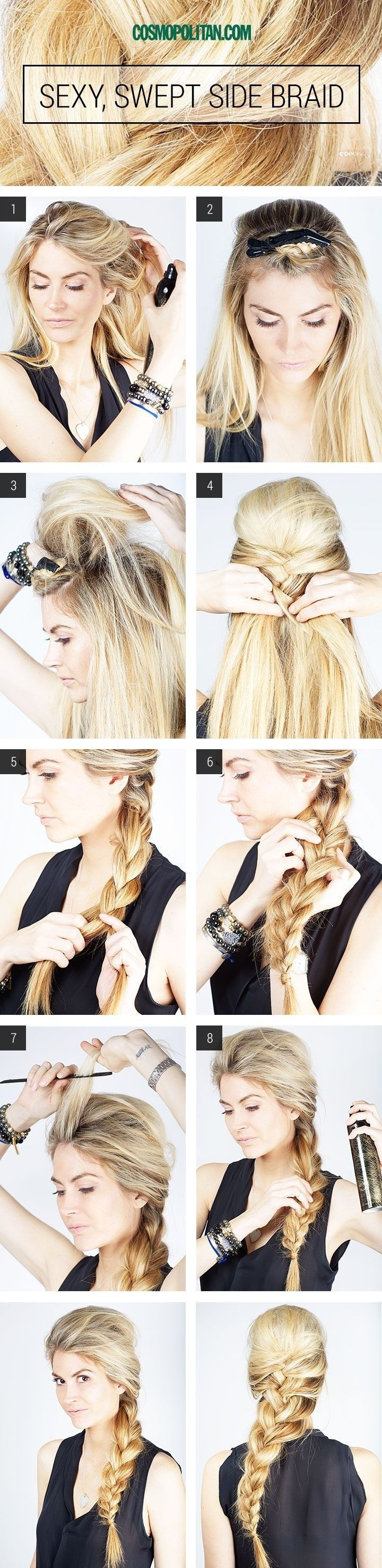 Side-swept Braid Hair You Won't Miss: Hair Tutorials - Pretty Designs
