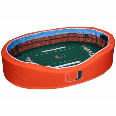Miami Hurricanes Football Stadium Pet Bed