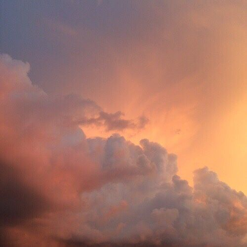 sky, clouds, and orange image