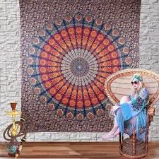 Our handmade Indian tapestries are sure to brighten any room. This handmade cheap wall tapestries will spread love and Peace all around.