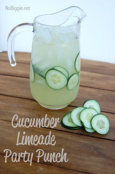 cucumber lime #punch recipe NoBiggie.net
