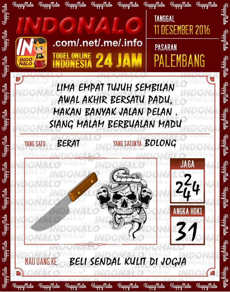 Lotre Kop 4D Togel Wap Online Live Draw 4D Indonalo Palembang 11 Desember 2016