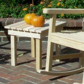 Heritage Garden Rectangle Cedar Side Table
