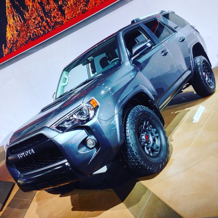 2016 Toyota 4Runner TRD Pro Magnetic Gray - posing at the Detroit Auto Show