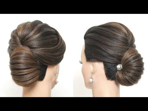 New French Roll Hairstyle Tutorial Bridal Prom Updo For Long Hair