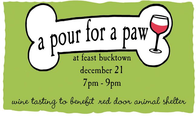 animal fundraiser wine tasting   ... tasting benefit for the Red Door Animal Shelter. Keep our furry