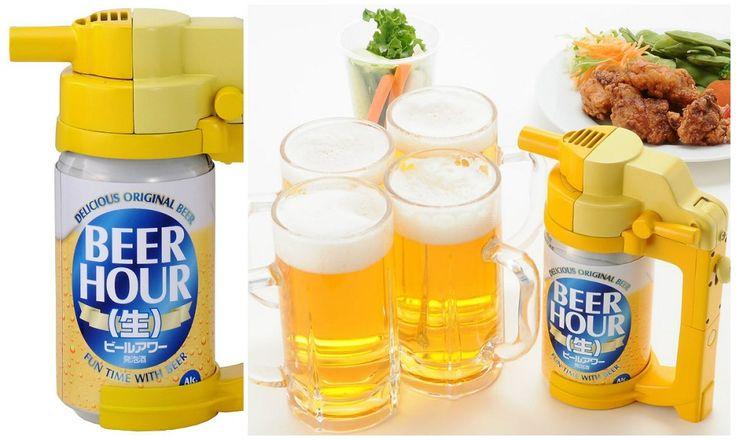 Dispositivo movido a pilhas transforma sua lata de cerveja em um barril de chope