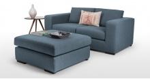Abingdon, un canapé modulable 3 places en bleu céruléen