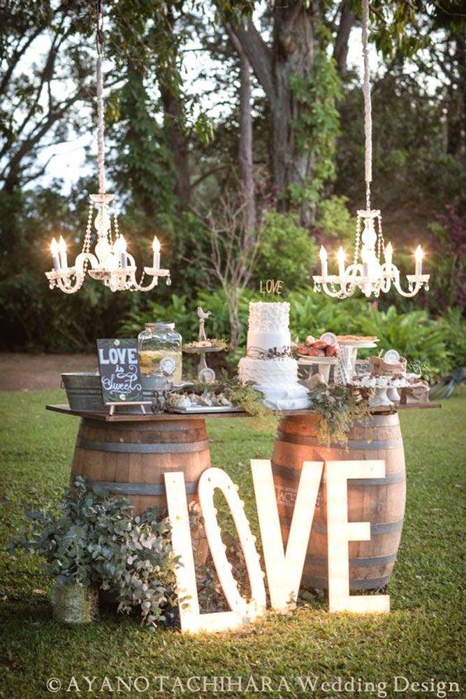 24 Rustic Wedding Decor Photos For Gorgeous Ceremony ❤ See more: http://www.weddingforward.com/rustic-wedding-decor/ #weddings