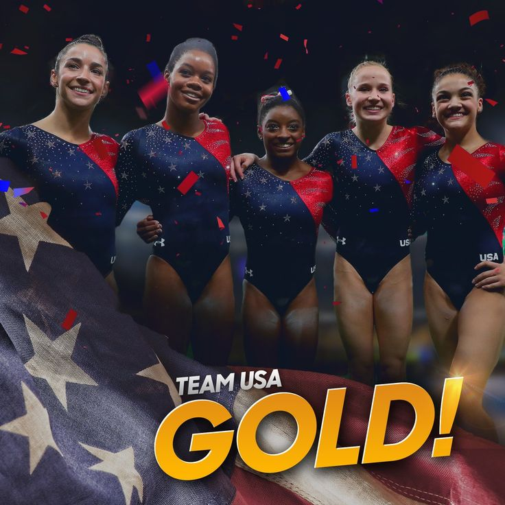 NBC Olympics ‏@NBCOlympics Aug 9 .@TeamUSA wins #GOLD in the Women's Gymnastics Team Final! #Rio2016