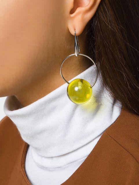 Marni glass bead drop earrings