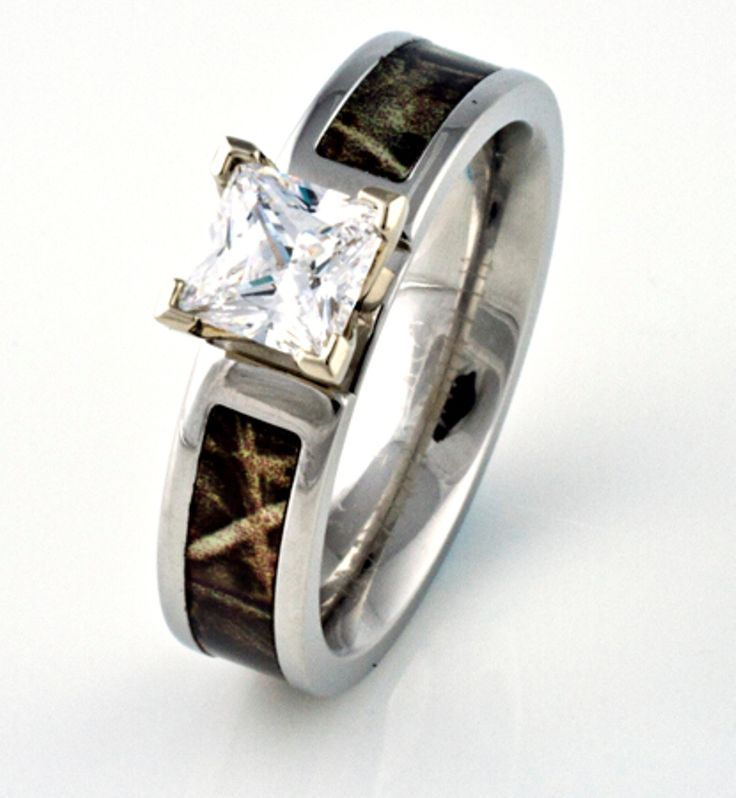 Camo Engagement Wedding Ring