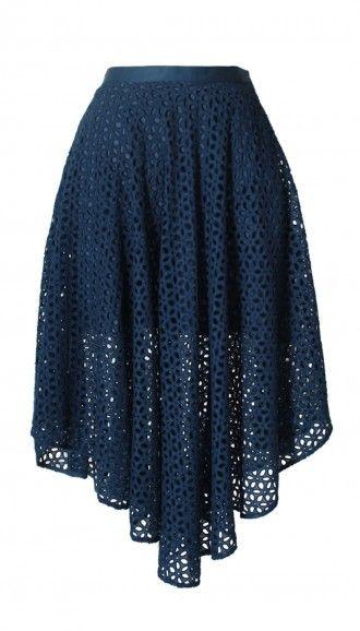 Hanae Eyelet Skirt