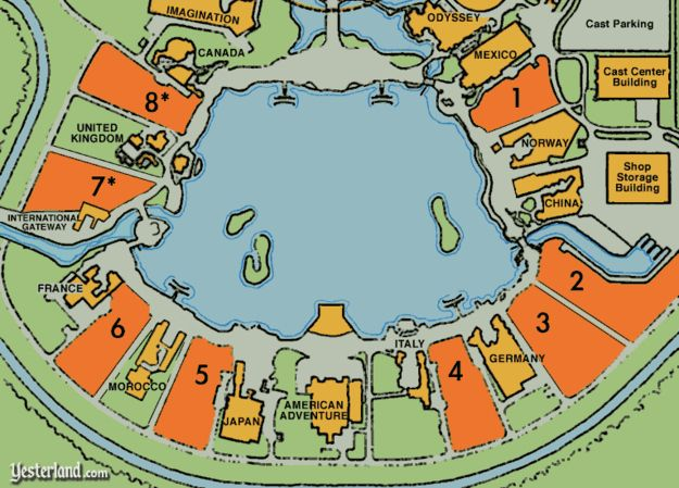 Things You Probably Never Knew About Disney Parks  23. The World Showcase at Epcot may seem full, but there's actually room for eight additional counties.