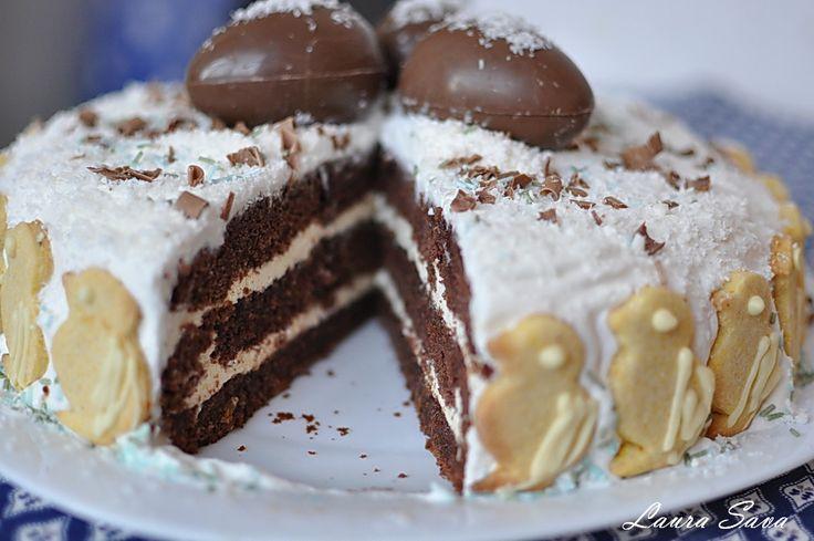 Tort de ciocolata cu dulceata de cirese
