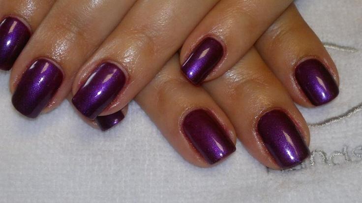 CND Shellac using Dark Lava & Haute Pink Additive.