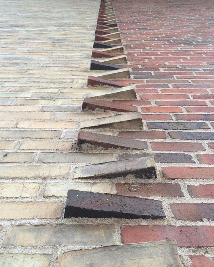 """5,572 Likes, 41 Comments - Heart, Grit & Hardscape ⚒ (@heart.grit.hardscape) on Instagram: """"Cool brickwork done by Bispebjerg Bakke and designed by Bjørn Nørgaard. Found via @bricksinwalls! ⚒…"""""""