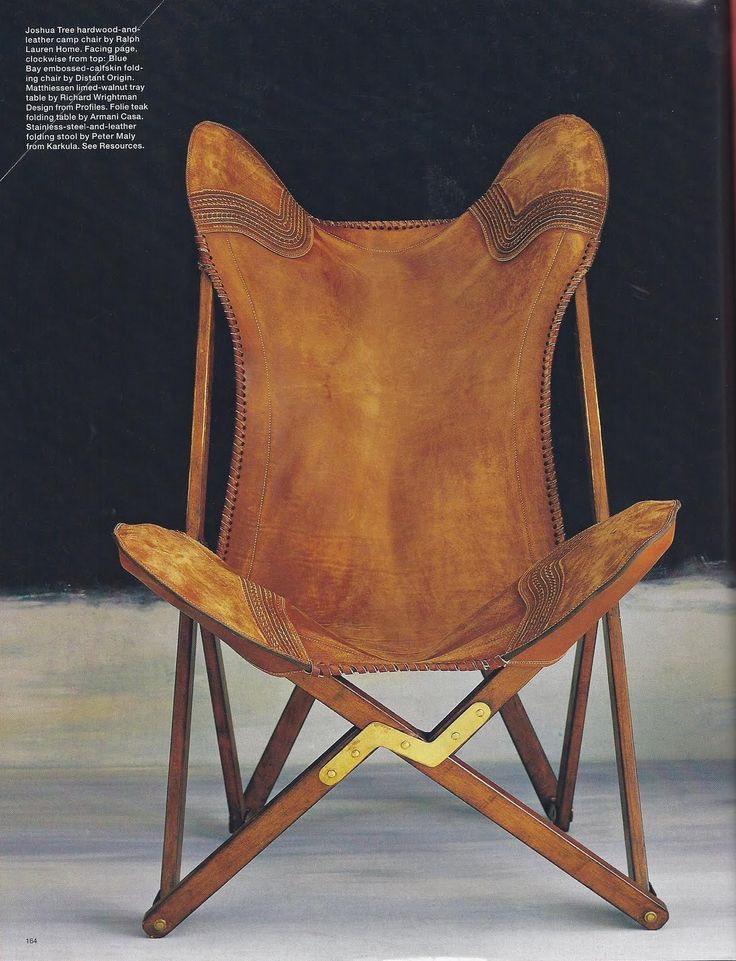 Amazing, almost sculpture in itself - Ralph Lauren Joshua Tree Camp Chair