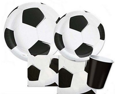 soccer baby shower tableware supplies