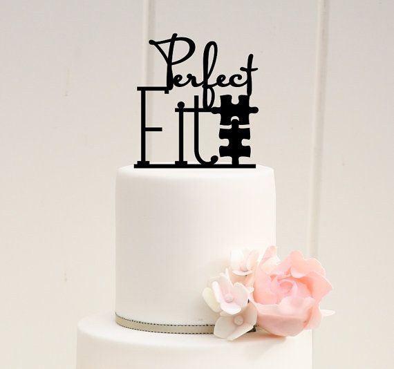 Hey, I found this really awesome Etsy listing at https://www.etsy.com/listing/171116309/perfect-fit-puzzle-wedding-cake-topper