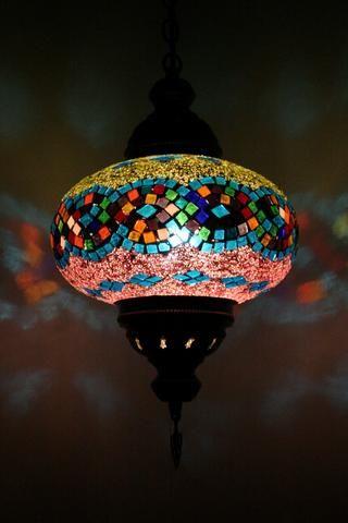 Colourful Plaid Turkish Light