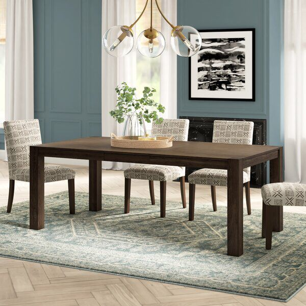 Comfrey Extendable Dining Table Dining Table Extendable Dining Table Brown Dining Table