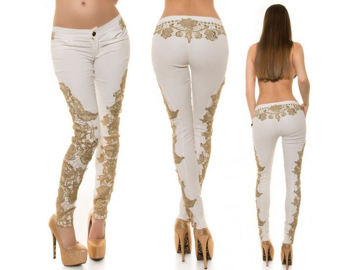 white jeans with lace, fashionistas dream, bestmoda.cz in stock - we ship worldwide - bestmoda.cz skladem ♥ love fashion ♥