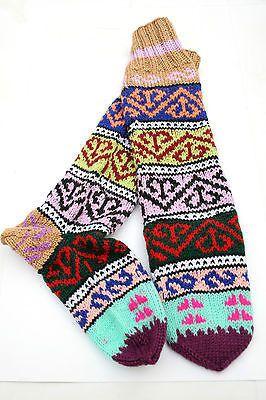 Turkish Kilim Design Hand Knitted Socks