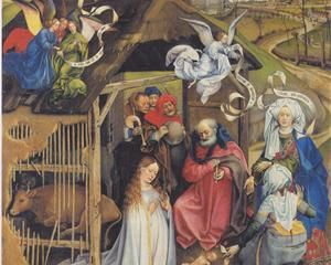 Adoration of Shepherds - Robert Campin, 1420