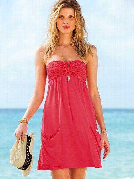 Smocked-top Dress