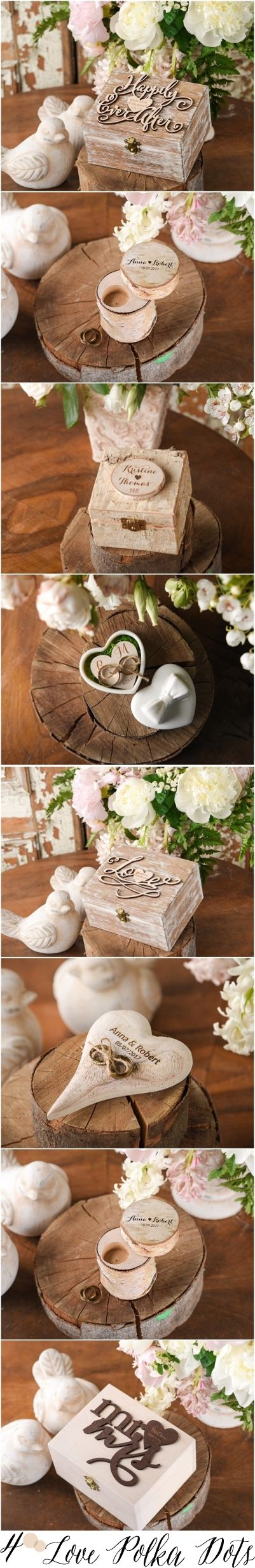 Rustic country wooden wedding ring box #rusticwedding #countrywedding #weddingideas