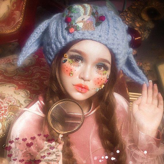 azul mujer sombrero grueso Crochet gruesa invierno por Sexy8baby