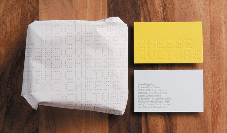 Cheese Culture business card and branding by Parallax.